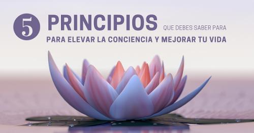 """Micro-taller gratuito: """"5 principios que debes saber para elevar la conciencia y elevar y mejorar tu vida""""."""